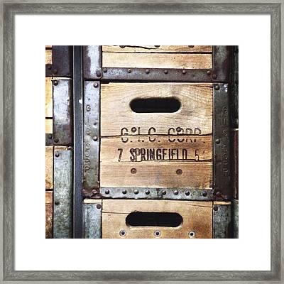 Ronnybrook Milk Crate Framed Print by Natasha Marco