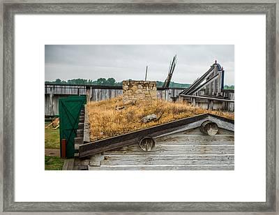 Roof At Fort Union Framed Print by Paul Freidlund