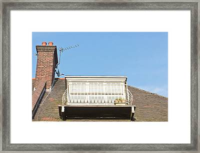 Roof Balcony Framed Print