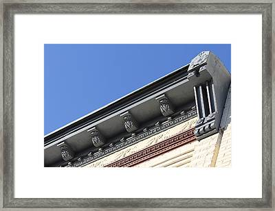 Roof Detail Framed Print