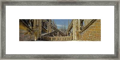 Roof Detail Of The Duomo Di Milano Framed Print
