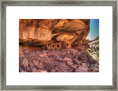 Roof Falling In Ruin 2 Framed Print by Bob Christopher