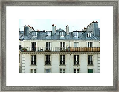 Roof Of Paris Framed Print