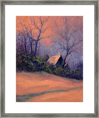 Roof Reflection At Dusk Framed Print