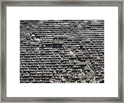 Roof Textures Framed Print by Bonnie Muir