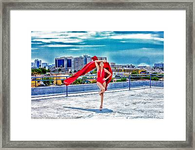 Roof Top Framed Print by Gregory Worsham