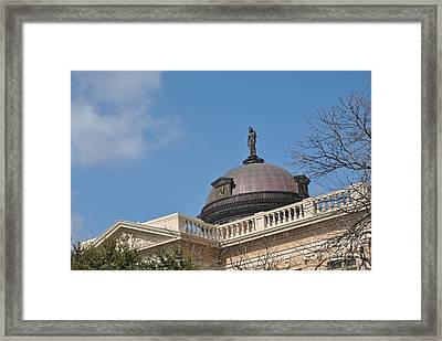 Roof Top Justice Framed Print by Paul Wesson