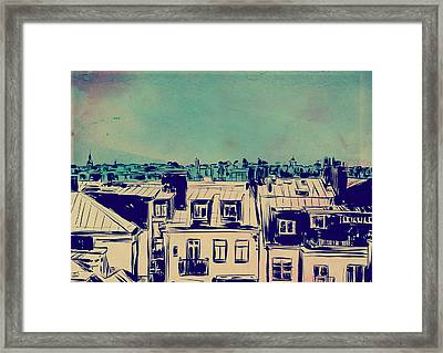 Roofs Framed Print by Giuseppe Cristiano