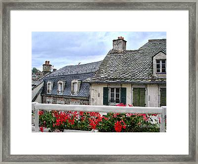 Roofs In The Cantal Auvergne France Framed Print by Menega Sabidussi