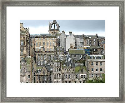 Framed Print featuring the photograph Roofs Of Edinburgh  by Suzanne Oesterling