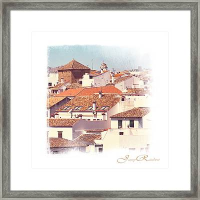 Roofs Of Ronda. Mini-ideas For Interior Design Framed Print