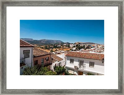 Roofs Of Ronda. Spain Framed Print