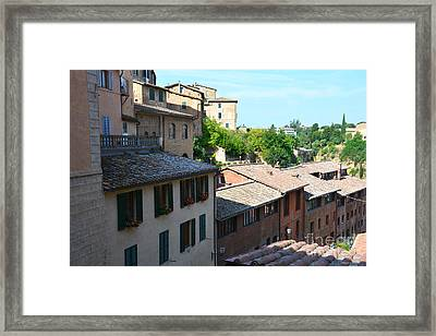 Roofs Of Siena 2 Framed Print by Ramona Matei