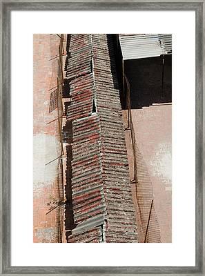 Rooftop Corridor In Havana Cuba Framed Print