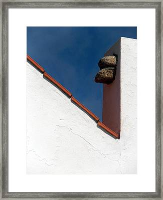 Rooftop Detail Framed Print