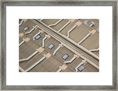 Rooftop Ducts Framed Print by Bill Mock