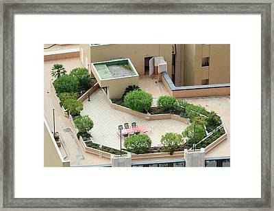 Rooftop Garden Framed Print by Chris Hellier