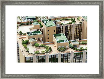Rooftop Gardens Framed Print by Chris Hellier