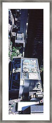 Rooftop Of Museum Of Modern Art Framed Print by Panoramic Images