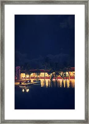 Rooftop Serenity Framed Print by Laurie Search