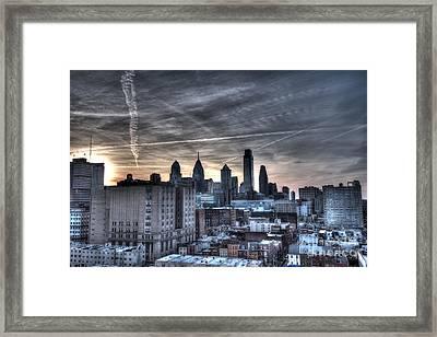 Rooftop Skyline Philadelphia Framed Print