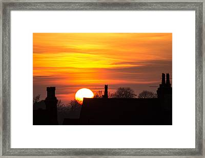 Rooftop Sunset Framed Print by Dawn OConnor