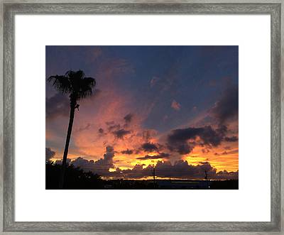 Rooftop Sunset International Plaza Framed Print