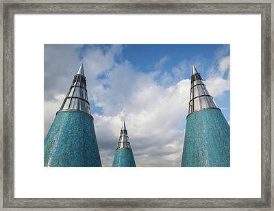 Rooftop Towers At Museum Of Technology Framed Print