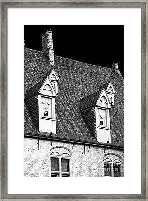 Rooftop View In Bruges Framed Print by John Rizzuto