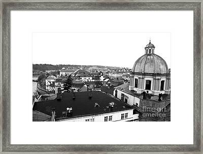Rooftop View In Praha Framed Print by John Rizzuto