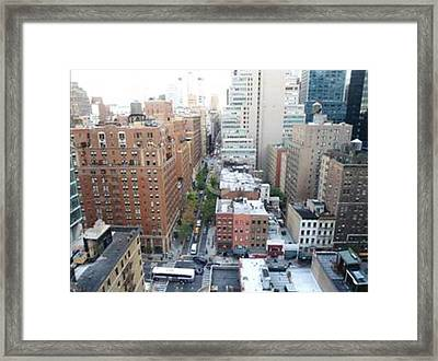 Framed Print featuring the photograph Rooftop View by Justin Lee Williams
