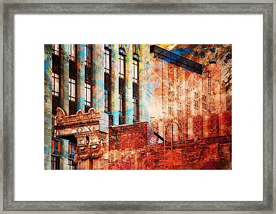 Rooftop With Vintage Colors Framed Print