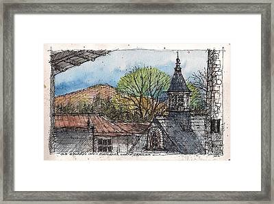 Rooftops At Old Edwards Inn Framed Print