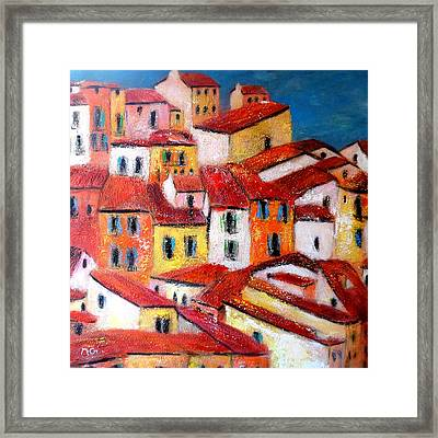 Rooftops Collioure Framed Print