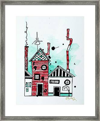 Rooftops Framed Print by Emily Pinnell