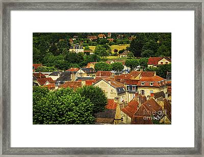 Rooftops In Sarlat Framed Print by Elena Elisseeva