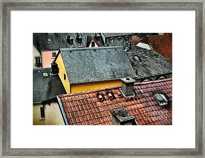 Framed Print featuring the photograph Rooftops by Nick  Biemans