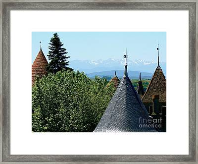 Rooftops Of Carcassonne Framed Print by France  Art