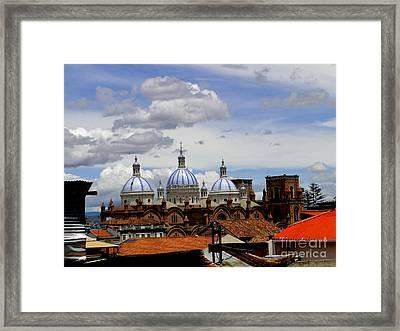 Rooftops Of Cuenca Framed Print by Al Bourassa