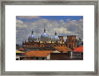 Rooftops Of Cuenca II Framed Print by Al Bourassa