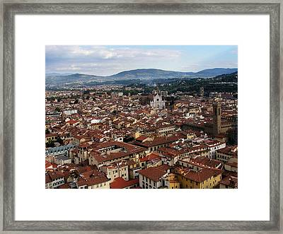 Rooftops Of Florence Framed Print by David and Mandy