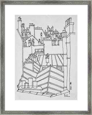 Rooftops Of Paris, France Framed Print