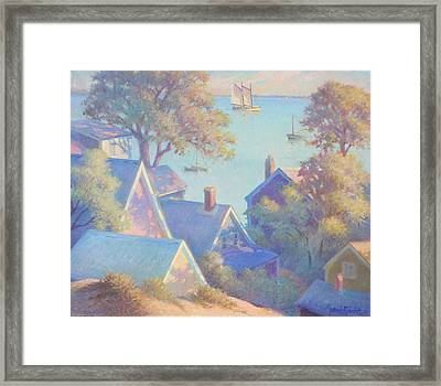 Rooftops Of Provincetown Harbor Framed Print by Ernest Principato