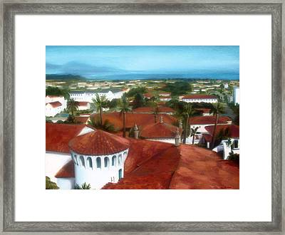 Rooftops Of Santa Barbara Framed Print