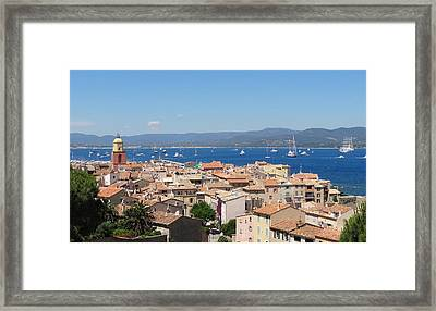 rooftops of St-Tropez Framed Print by Solange Rhode