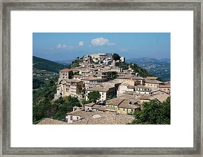 Rooftops Of The Italian City Framed Print