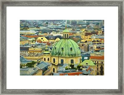 Rooftops Of Vienna Framed Print by Jeffrey Kolker