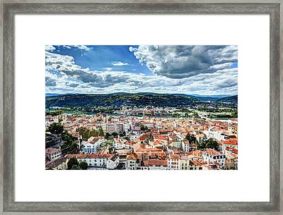 Rooftops Of Vienne Framed Print by Mel Steinhauer
