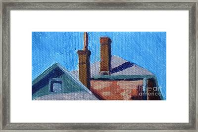 Rooftops On State Framed Print by Katrina West