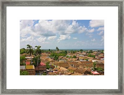 Rooftops, Trinidad, Unesco World Framed Print by Keren Su